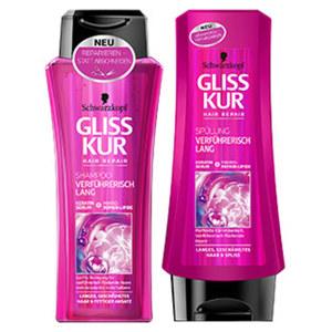 Gliss Kur Shampoo oder Spülung versch. Sorten jede 200/250-ml-Flasche