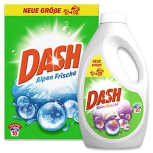 Dash Waschmittel 20/18 Waschladungen versch. Sorten, jede Packung/Flasche