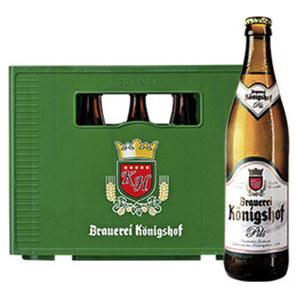Brauerei Königshof Pils, Export, Alt, Radler oder Weizen 20 x 0,5 Liter, jeder Kasten