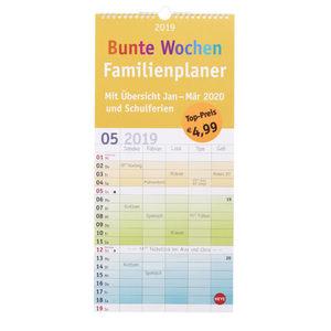 """Familienplaner """"Bunte Wochen"""" 2019"""