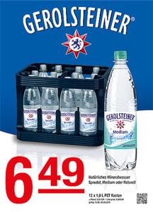 Gerolsteiner Natürliches Mineralwasser