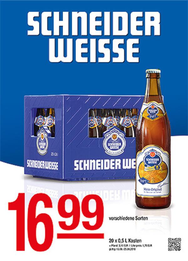 Schneider Weisse von Getränke Hoffmann ansehen! » DISCOUNTO.de