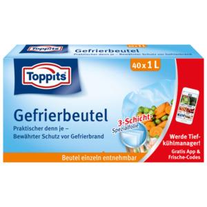 Toppits Gefrierbeutel mit Standboden 1l, 40 Stück