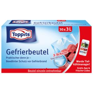 Toppits Gefrierbeutel mit Standboden 3l, 30 Stück