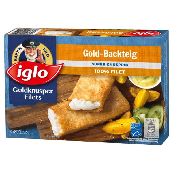 Iglo Goldknusper-Filets im Gold-Backteig 300g