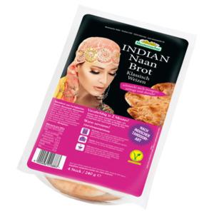 Mestemacher Indian Naan Brot 4 Stück, 240g