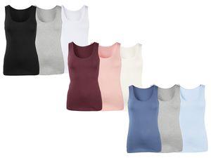 ESMARA® Lingerie 3 Damen Achselhemden