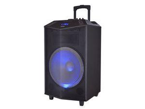 DENVER Bluetooth Trolley Lautsprecher mit Akku und LED-Licht TSP-504
