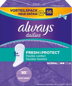 always Slipeinlage Fresh&Protect Normal Vorteilspack 56