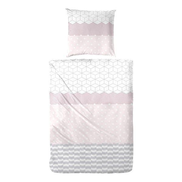 Bettwasche Lucey Baumwollstoff Rosa Weiss Vario Von Home24