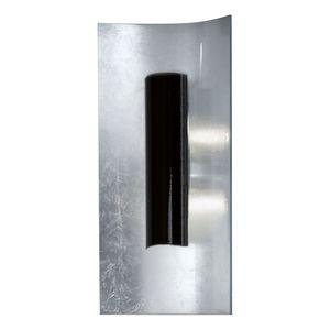 EEK A, Wandleuchte Aura Silber 45 cm - Metall / Glas - Silber / Schwarz - 2-flammig, Hans Kögl