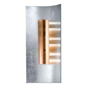 EEK A, Wandleuchte Aura Silber 45 cm - Metall / Glas - Silber / Kupfer - 2-flammig, Hans Kögl