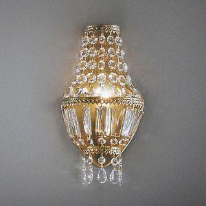 EEK A+, Wandleuchte Cupola - Metall/Glas - Grün/Gold - 1-flammig, Hans Kögl