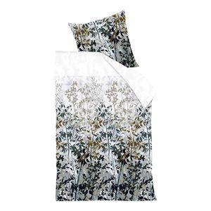 Bettwäsche Elaina - Baumwollstoff - Beige / Grau - 155 x 220 cm + Kissen 80 x 80 cm, Beddinghouse