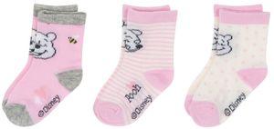 Baby Socken 3er Mädchen: grau/rosa/offwhite Gr. 62/68