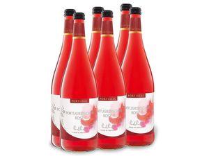 6 x 1,0-l-Flasche Weinpaket Portugiesischer Rosé lieblich, Roséwein