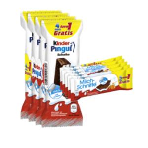 Ferrero Milchschnitte, Kinder Pingui, Maxi King oder Joghurtschnitte