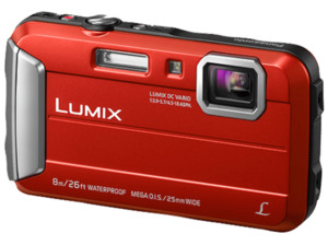 PANASONIC Lumix DMC-FT30EG-D Digitalkamera, 16.1 Megapixel, 4x opt. Zoom, Rot