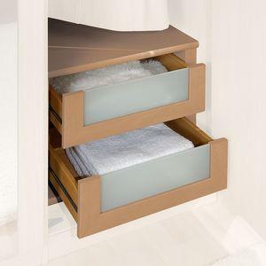 Schubkasteneinsatz - Erle Dekor/Glas - 100er Breite, Wiemann