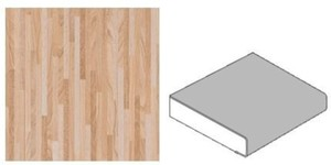 GetaLit Elements Küchenarbeitsplatte ,  Feinstab-hell, 4,1 x 0,6 m, 39 mm
