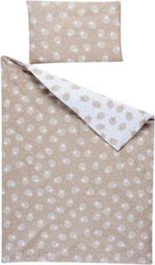 Wende-Kinderbettwäsche Schäfchen, Piqué, beige, 100x135 cm Gr. 100 x 135