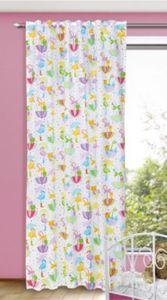 Vorhang bunte Flamingos , 245 x 135 cm