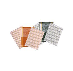 Home Jacquard-Geschirrtuch mit Karomuster, 50x70cm, 3er Pack
