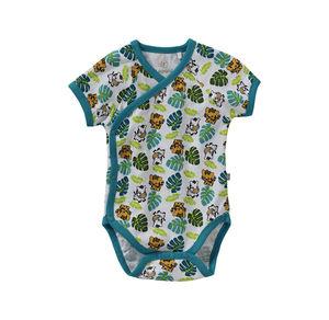 Liegelind Baby-Jungen-Wickelbody mit Dschungel-Muster
