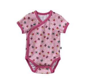 Liegelind Baby-Mädchen-Wickelbody mit Frühlingsmuster