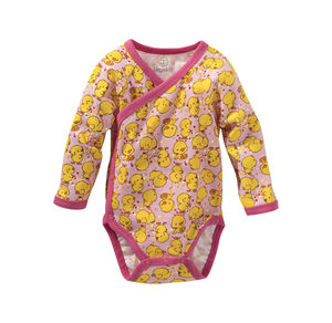 Liegelind Baby-Mädchen-Wickelbody mit Küken-Muster