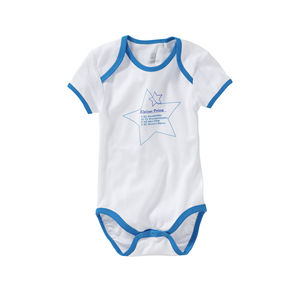 Liegelind Baby-Jungen-Body mit schickem Frontmotiv