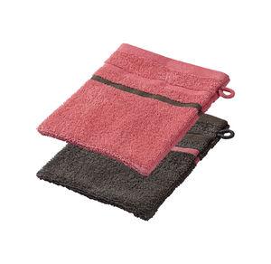 Home Waschhandschuh mit kontrastfarbener Bordüre