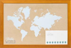 Paradies Flat Finish Rahmen 30x45cm Weltkarte
