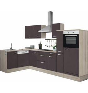 Optifit Winkelküche mit E-Geräten »Faro«, Stellbreite 300 x 175 cm