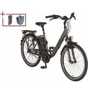 Prophete Da. City E-Bike inkl. 2. Akku u. Packt, Mittelm., 26/28 Z., 7 Gang Nexus, »Geniesser e 8.7«