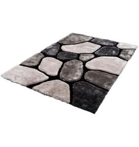 Hochflor-Teppich »Stone K11595«, Trend Teppiche, rechteckig, Höhe 35 mm