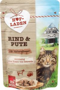 Dein Bestes Nassfutter für Katzen, Hofladen, für Naturgänger, Rind & Pute