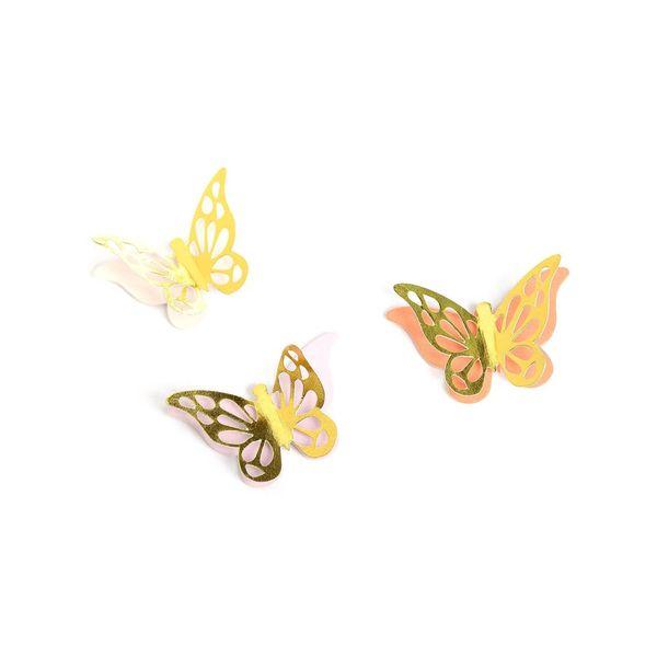 Sticker Schmetterling, L:4cm, 8Stk, gold