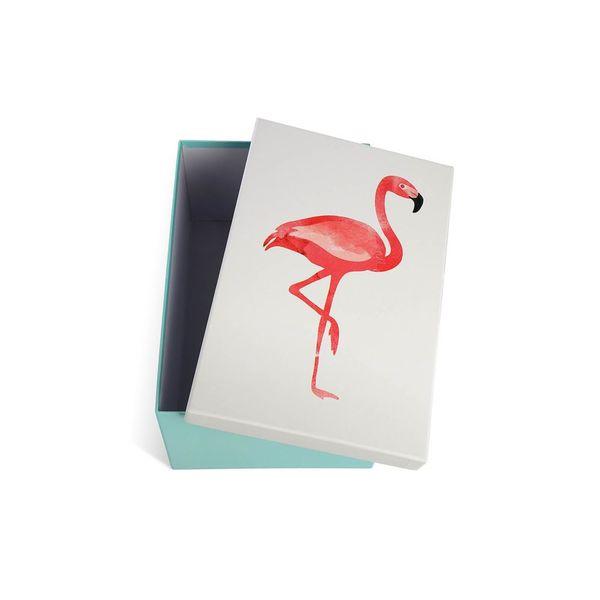 Box Flamingo, 18,5x11,5x27cm, bunt