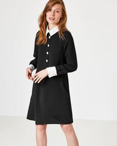 A-Linien-Kleid mit Kontrastdetails