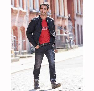 Reward classic Herren-Jeans mit Knittereffekt