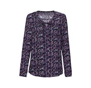 Laura Torelli Classic Damen-Bluse mit hübschen Bindebändern