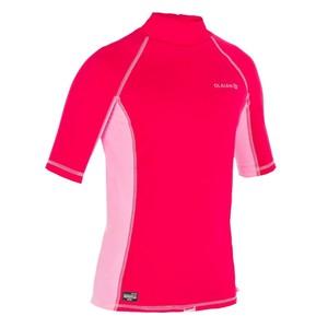 OLAIAN Thermo-Shirt Surfen kurzarm UV-Schutz Kinder rosa, Größe: 4 J. - Gr. 100