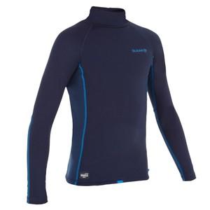 OLAIAN Thermo-Shirt langarm Surfen UV-Schutz Fleece Kinder blau, Größe: 4 J. - Gr. 100