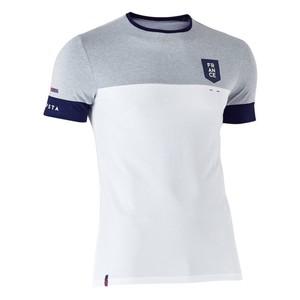KIPSTA Fußballtrikot FF100 Frankreich Erwachsene weiß/grau meliert, Größe: S
