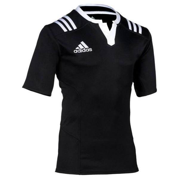 ADIDAS Rugbytrikot 3S Erwachsene schwarz/weiß, Größe: S