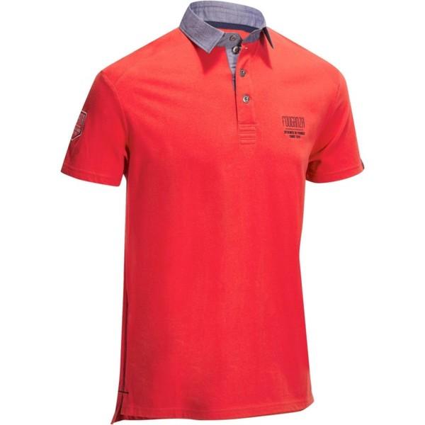 FOUGANZA Reit-Poloshirt Kurzarm PL100 Herren rot, Größe: S
