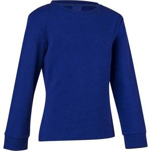 DOMYOS Sweatshirt 100 Gym Kinder blau, Größe: 6 J. - Gr. 116