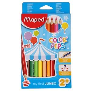 Maped Color Peps Jumbo-Buntstifte, 12er-Set