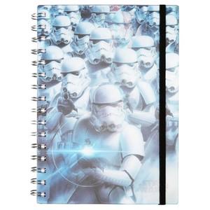 Star Wars 3D-Spiralnotizbuch, liniert, DIN A5, 90 Blatt